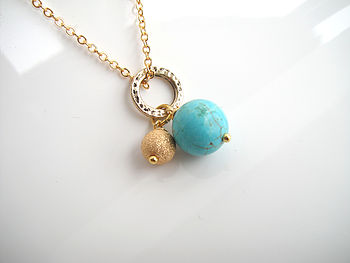 Gold Semi Precious Beaded Necklace