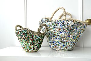Mini Beldi Sequin Basket - bedroom