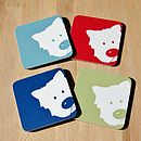 Peek A Boo Dog Coasters