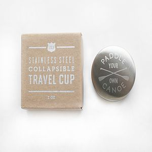 'Paddle Own Canoe' Travel Shot Glass - hip flasks