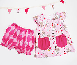 Baby Girl Pink Dress Set