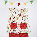 Baby Girls Vintage Abc Dress Set
