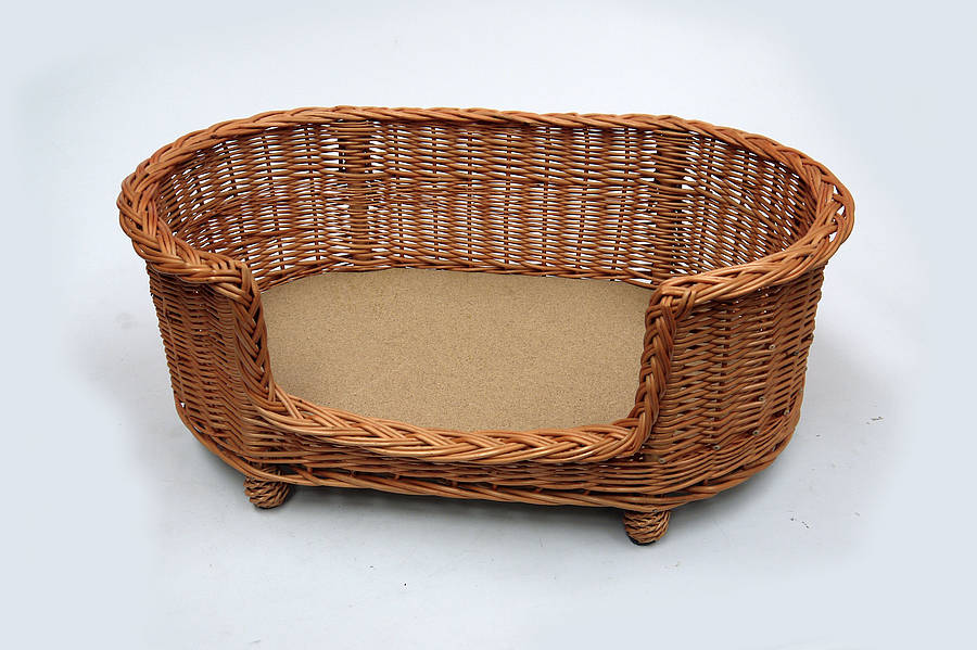 luxury wicker pet bed basket settee by prestige wicker