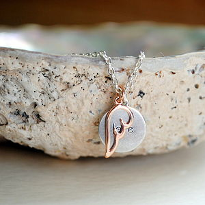 Angel Love Rose Gold Necklace