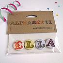 Alphabet Name Badges