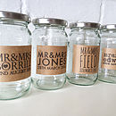 Personalised Wedding Labelled Jam Jar