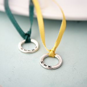 Personalised Mini Circle Charm - charm jewellery