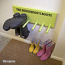 Personalised Welly Rack