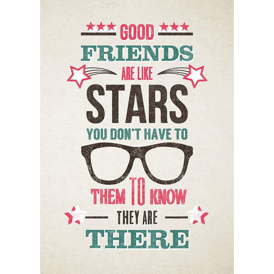 Quotes About Tea And Friendship Friends Are Like Stars' Printof Life & Lemons