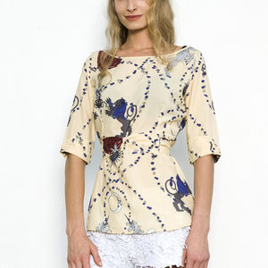 Violet Tea Blouse