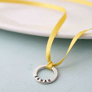 Personalised Ribbon Necklace Or Bracelet - charm jewellery