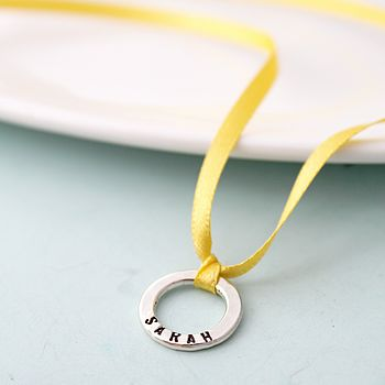 Personalised Mini Message Charm in 925 Sterling Silver with a black finish