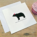 Happy Birthday Mummy Bear Card
