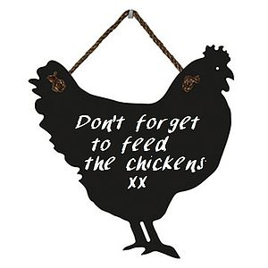 Large Chicken Chalkboard With Rope Hanger - kitchen accessories