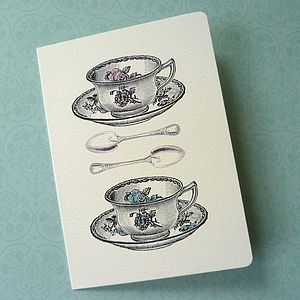 Everything Stops For Tea Card - all purpose cards, postcards & notelets