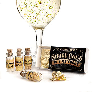 Edible 24 Carat Gold In A Matchbox - christmas party food drink ideas