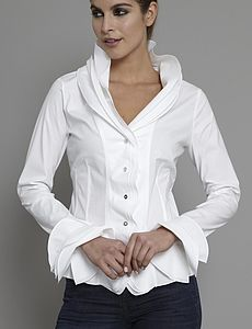 Isabella White Shirt - Workwear