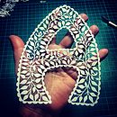 Personalised Papercut Letters
