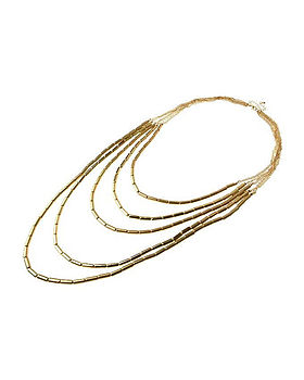 Multi Row Tube Layered Necklace