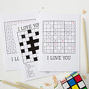 Personalised 'Love' Puzzle Cards