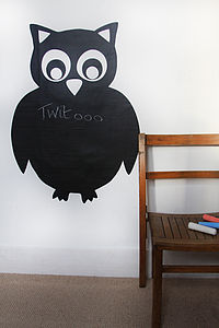 Owl Blackboard Sticker - wall stickers