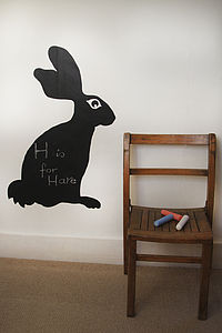 Hare Blackboard Sticker - kitchen