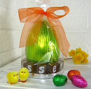 Personalised Chunky Chocolate Easter Egg In Green Foil - easter eggs