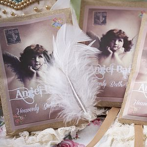 Three Heavenly Angel Bath Milk Envelopes - gift sets