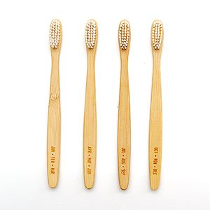 'Months' Themed Bamboo Toothbrushes Set Of Four - bath & body