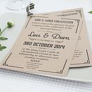 Gatsby Wedding Day Invitation