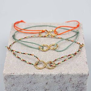 Gold Bracelets Infinity, Assorted Colours