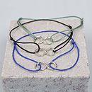 Silver Bracelets Infinity, Assorted Colours