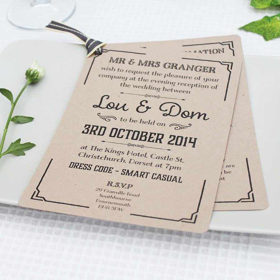 Kraft Wedding Invitations was good invitation sample