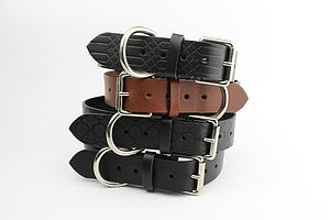 Thick Leather Dog Collar - clothes