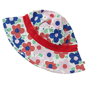 Ditsy Daisy Girl's Sun Hat - children's accessories