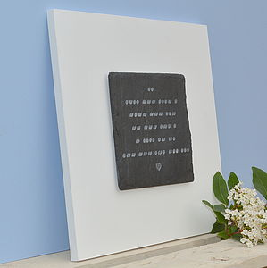 Romantic Morse Than Words Engraved Plaque - prints & art