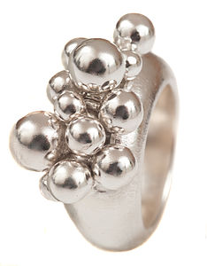 Silver Bobble Ring - rings