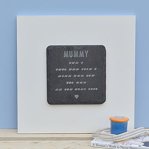 Engraved Morse And Words Wall Art For Mummy