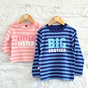 Big Or Little Sibling T Shirt - for under 5's