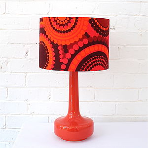 Bell Bottom Table Lamp With Bright Dots Shade