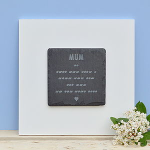Engraved Morse And Words Wall Art For Mum