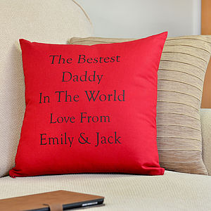 Personalised 'Best Daddy' Cushion