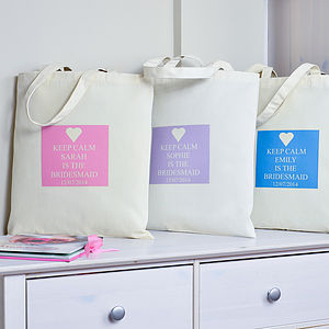 Personalised 'Bridesmaid' Bag - bridesmaid accessories