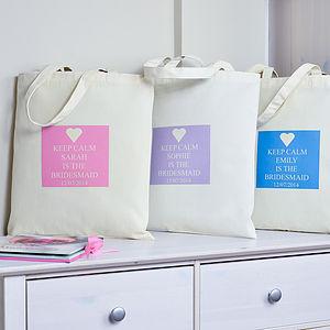 Personalised 'Bridesmaid' Bag - bridesmaid gifts