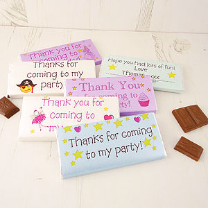 Personalised Party Bag Chocolates - children's parties