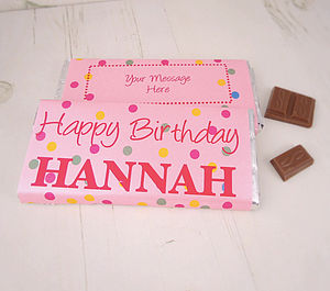 Happy Birthday Personalised Chocolate Bar - personalised