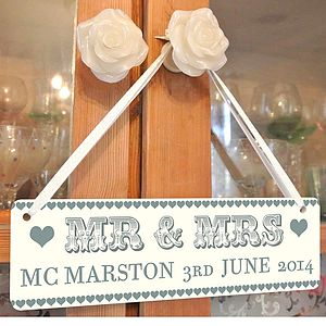 Personalised Mr And Mrs Sign - room decorations