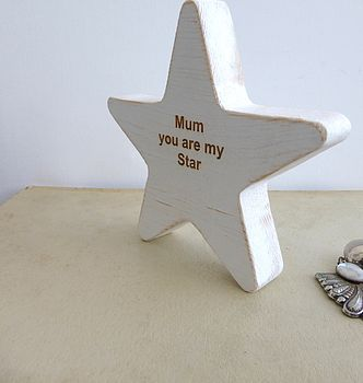Mum Wooden Star Keepsake