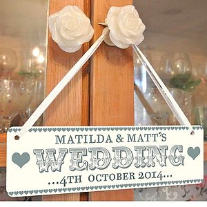 Personalised Wedding Sign - signs