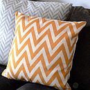 Chevron Cushion In Linen